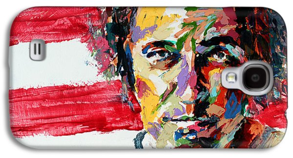Bruce Springsteen Paintings Galaxy S4 Cases - Bruce Springsteen Galaxy S4 Case by Derek Russell