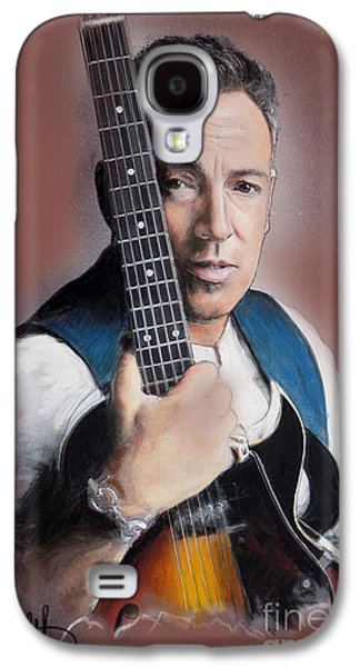 Bruce Springsteen Pastels Galaxy S4 Cases - Bruce Springsteen Galaxy S4 Case by Melanie D