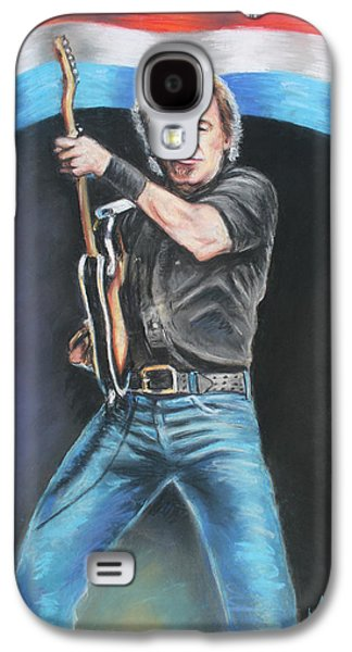 Bruce Springsteen Pastels Galaxy S4 Cases - Bruce Springsteen  Galaxy S4 Case by Melinda Saminski
