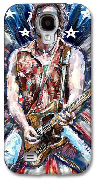 Bruce Springsteen Mixed Media Galaxy S4 Cases - Bruce Springsteen Painting Galaxy S4 Case by Ryan RockChromatic