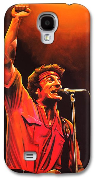 Boss Paintings Galaxy S4 Cases - Bruce Springsteen Galaxy S4 Case by Paul  Meijering