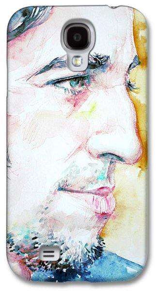 Bruce Springsteen Paintings Galaxy S4 Cases - BRUCE SPRINGSTEEN PROFILE portrait Galaxy S4 Case by Fabrizio Cassetta