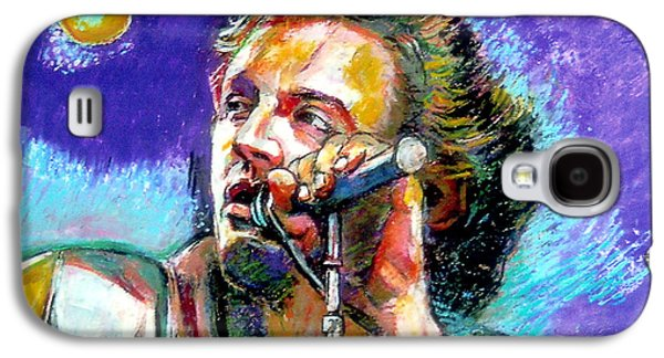 Music Pastels Galaxy S4 Cases - Bruce Springsteen Galaxy S4 Case by Stan Esson