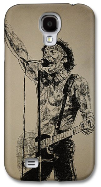 Bruce Springsteen Drawings Galaxy S4 Cases - Bruce Springsteen Galaxy S4 Case by Tim Brandt