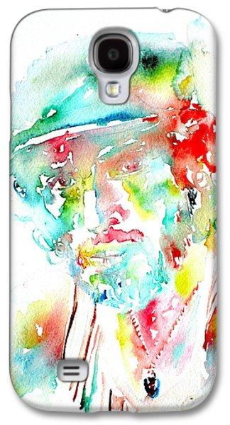 Bruce Springsteen Paintings Galaxy S4 Cases - Bruce Springsteen Watercolor Portrait Galaxy S4 Case by Fabrizio Cassetta
