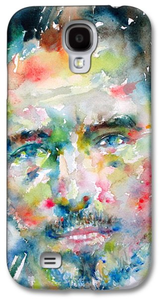 Bruce Springsteen Paintings Galaxy S4 Cases - Bruce Springsteen Watercolor Portrait.1 Galaxy S4 Case by Fabrizio Cassetta