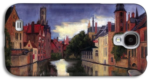 Janet King Galaxy S4 Cases - Bruges Belgium canal Galaxy S4 Case by Janet King