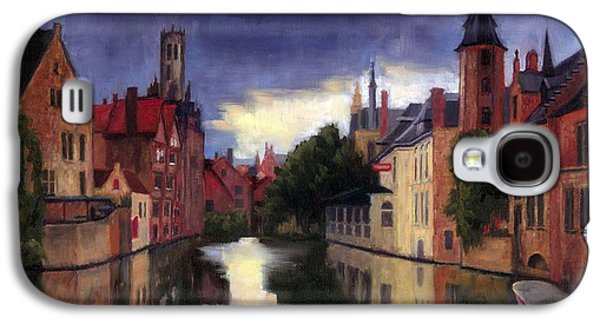 Bruges Belgium Canal Galaxy S4 Case by Janet King