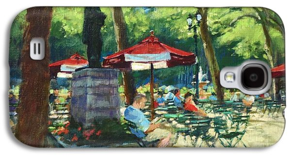 Bryant Paintings Galaxy S4 Cases - Bryant Park - The Reading Room Galaxy S4 Case by Peter Salwen