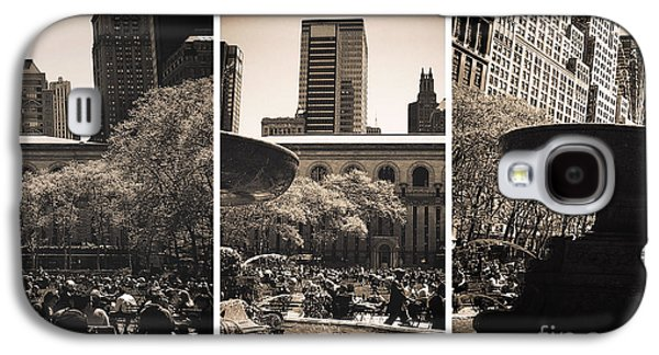 Bryant Park Galaxy S4 Cases - Bryant Park Panels Galaxy S4 Case by John Rizzuto