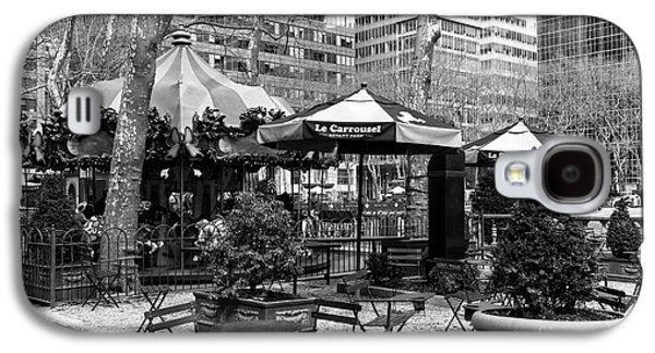 Bryant Park Galaxy S4 Cases - Bryant Park Tables mono Galaxy S4 Case by John Rizzuto