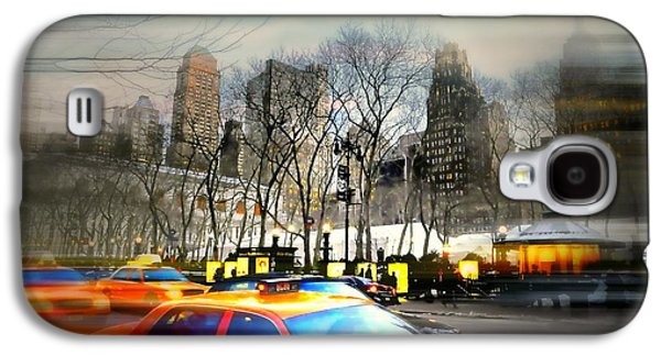 Bryant Park Galaxy S4 Cases - Bryant Park Taxi Galaxy S4 Case by Diana Angstadt