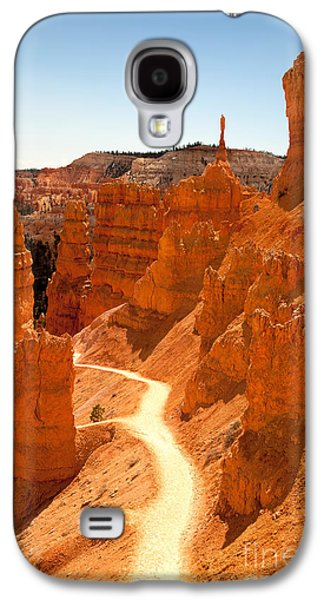 Geology Photographs Galaxy S4 Cases - Bryce Canyon trail Galaxy S4 Case by Jane Rix