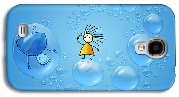 Animation Photographs Galaxy S4 Cases - Bubble Folks Galaxy S4 Case by Gianfranco Weiss