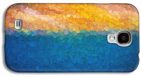 Abstract Digital Photographs Galaxy S4 Cases - Bubble Sunrise Abstract Digital Painting Galaxy S4 Case by Rich Franco