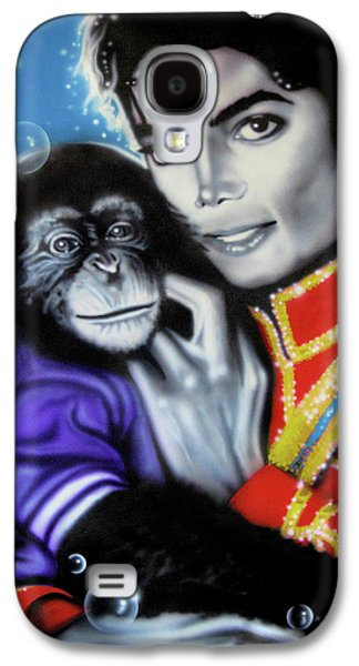 Michael Jackson Paintings Galaxy S4 Cases - Bubbles Galaxy S4 Case by Alicia Hayes