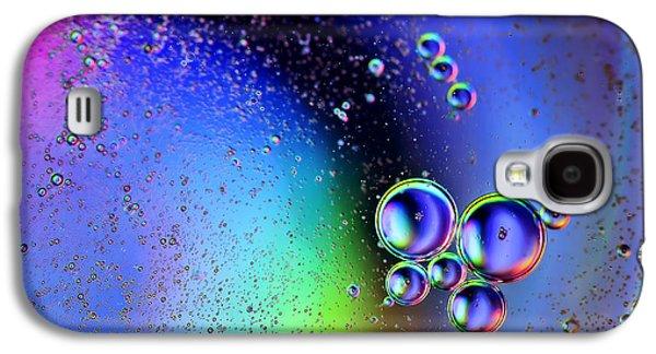 Oil Slick Digital Galaxy S4 Cases - Bubbles Galaxy S4 Case by EXparte SE