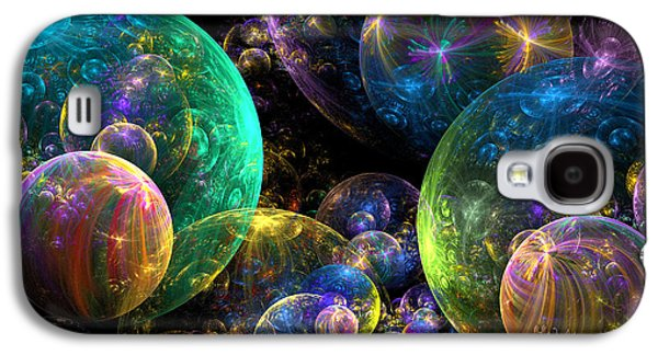 Best Sellers -  - Abstract Digital Digital Galaxy S4 Cases - Bubbles Upon Bubbles Galaxy S4 Case by Peggi Wolfe