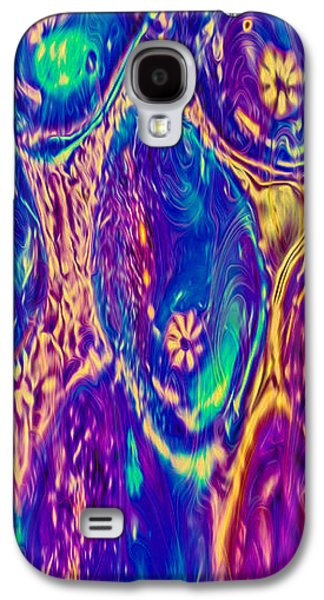 Abstract Digital Mixed Media Galaxy S4 Cases - Bubbling Fantasies Galaxy S4 Case by Omaste Witkowski