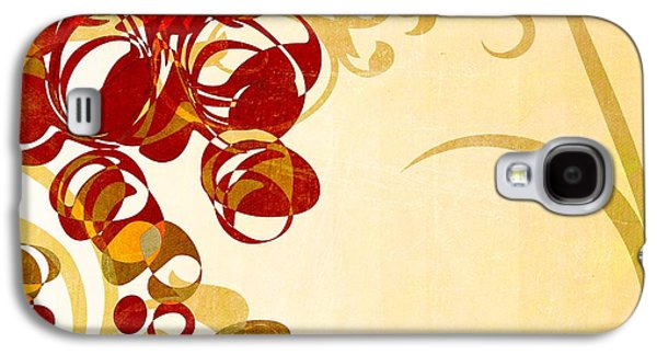 Beige Abstract Galaxy S4 Cases - Bubbling Bubbles - 102br03 Galaxy S4 Case by Variance Collections
