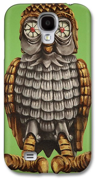 Animation Pastels Galaxy S4 Cases - Bubo Galaxy S4 Case by Brent Andrew Doty