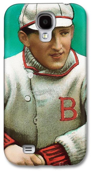 Red Sox Art Galaxy S4 Cases - Buck Herzog Boston Braves Baseball Card 0500 Galaxy S4 Case by Wingsdomain Art and Photography