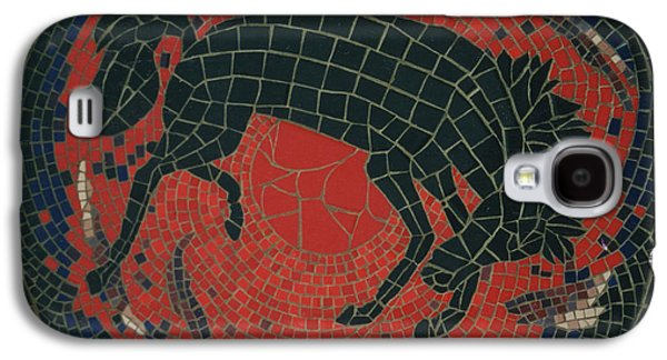 Tile Mosaic Ceramics Galaxy S4 Cases - Bucking Bronco Galaxy S4 Case by Pj Flagg Tongue in Chic
