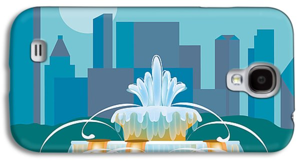 Illinois Print Digital Art Galaxy S4 Cases - Buckingham Fountain Chicago Galaxy S4 Case by Karen Young