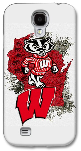 Sport Digital Galaxy S4 Cases - Bucky Badger University of Wisconsin Galaxy S4 Case by Jack Zulli
