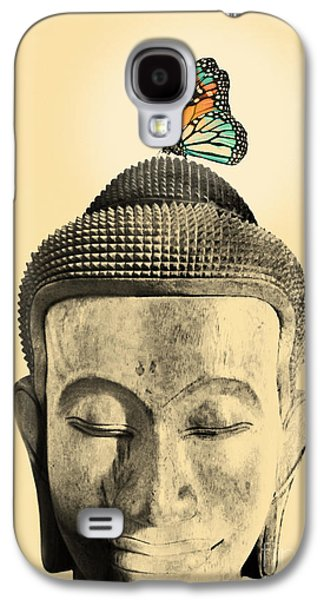 Buddhist Monk Galaxy S4 Cases - Buddha and Tranquility Galaxy S4 Case by Budi Kwan