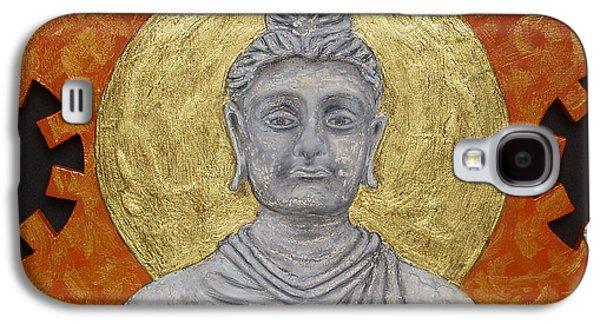 Buddhism Reliefs Galaxy S4 Cases - Buddha Galaxy S4 Case by Anna Maria Guarnieri