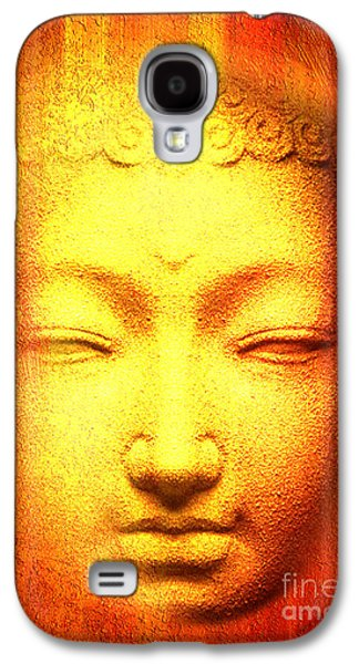 Statue Portrait Mixed Media Galaxy S4 Cases - Buddha Apparition Galaxy S4 Case by Khalil Houri