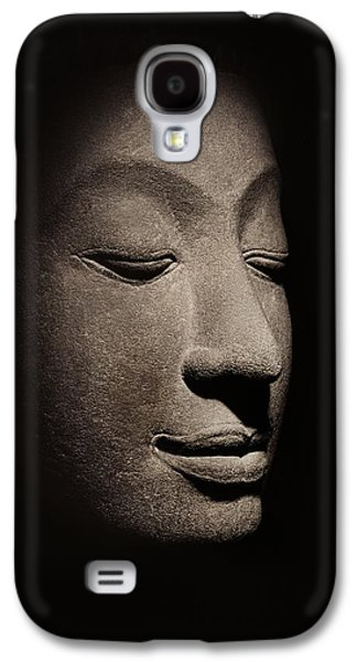 Meditative Photographs Galaxy S4 Cases - Buddha head from the early Ayutthaya Period Galaxy S4 Case by Siamese School