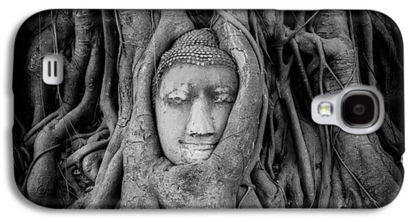 Tree Roots Galaxy S4 Cases - Buddha in the Banyan Tree Galaxy S4 Case by Dean Harte