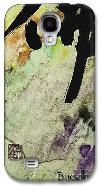 Siddharta Galaxy S4 Cases - Buddha ink brush calligraphy Galaxy S4 Case by Peter v Quenter