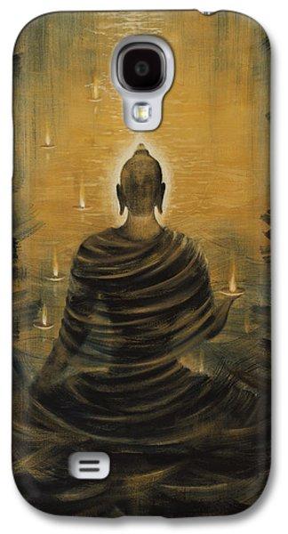 Tibetan Buddhism Galaxy S4 Cases - Buddha. Nirvana ocean Galaxy S4 Case by Vrindavan Das