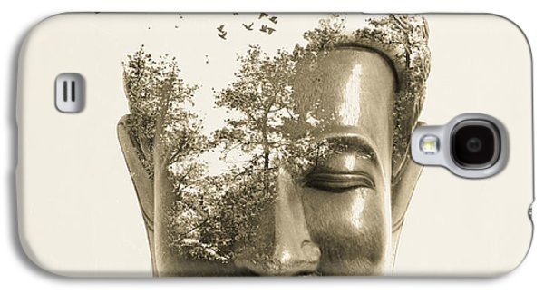 Photo Manipulation Galaxy S4 Cases - Buddha non attachment Galaxy S4 Case by Budi Satria Kwan