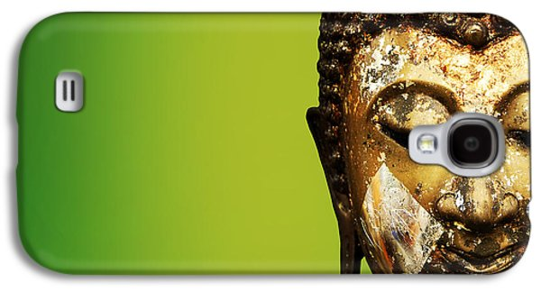 Statue Portrait Mixed Media Galaxy S4 Cases - Buddha portrait  Galaxy S4 Case by Thanes