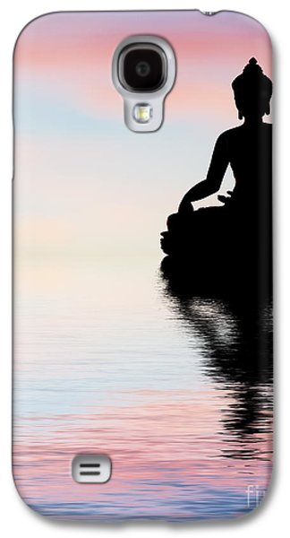 Religious Galaxy S4 Cases - Buddha Reflection Galaxy S4 Case by Tim Gainey