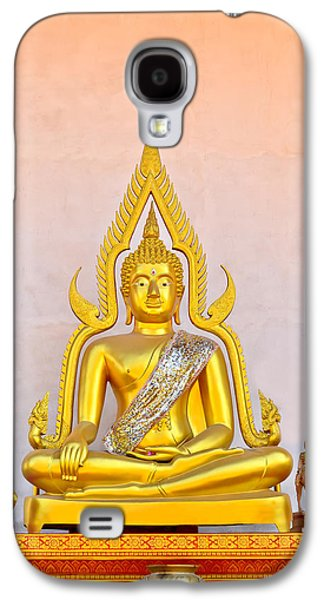 People Sculptures Galaxy S4 Cases - Buddha Statue Galaxy S4 Case by Keerati Preechanugoon