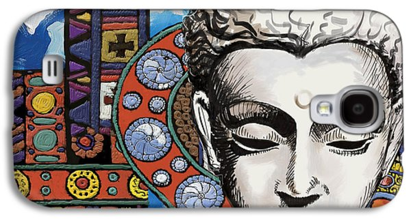 Corporate Task Art Force Galaxy S4 Cases - Buddha Tapestry Style Galaxy S4 Case by Corporate Art Task Force