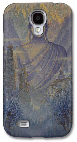 Unity Paintings Galaxy S4 Cases - Buddha. Valley of silence Galaxy S4 Case by Vrindavan Das