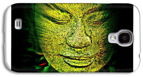 Statue Portrait Galaxy S4 Cases - Buddhas Mind II Galaxy S4 Case by Susanne Van Hulst