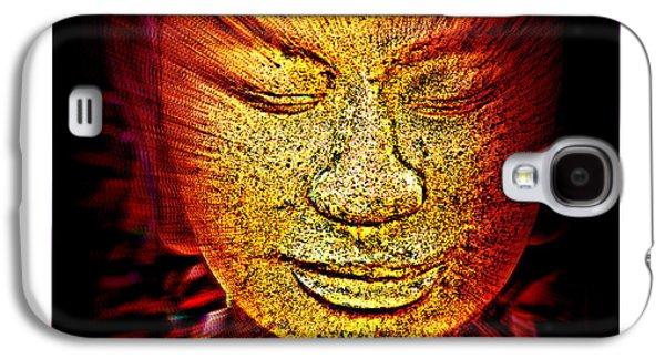 Statue Portrait Galaxy S4 Cases - Buddhas Mind III Galaxy S4 Case by Susanne Van Hulst