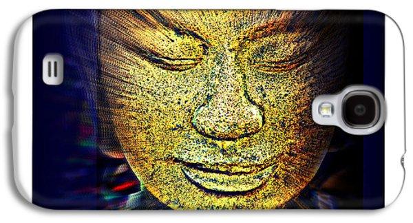 Statue Portrait Galaxy S4 Cases - Buddhas Mind Galaxy S4 Case by Susanne Van Hulst
