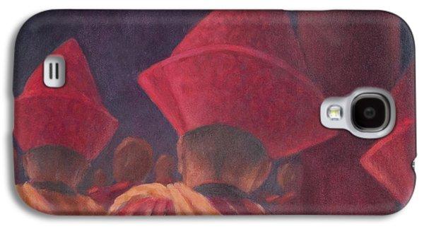 Buddhist Monk Galaxy S4 Cases - Buddhist Monks, Bhutan, 2012 Acrylic On Canvas Galaxy S4 Case by Lincoln Seligman
