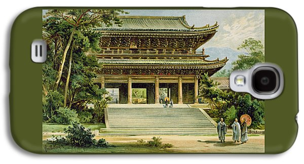 Worship Drawings Galaxy S4 Cases - Buddhist Temple At Kyoto, Japan Galaxy S4 Case by Ernst Heyn