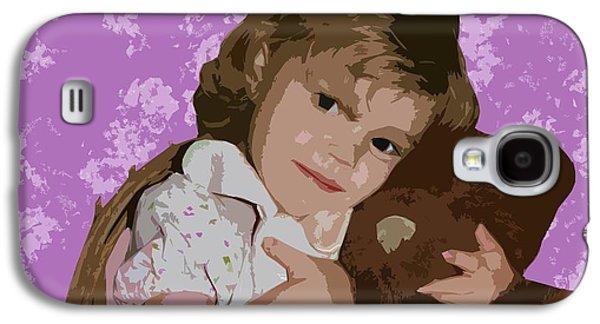 Little Girl Mixed Media Galaxy S4 Cases - Buddies Galaxy S4 Case by Ellen Henneke