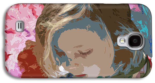 Little Girl Mixed Media Galaxy S4 Cases - Budding Artist Galaxy S4 Case by Ellen Henneke