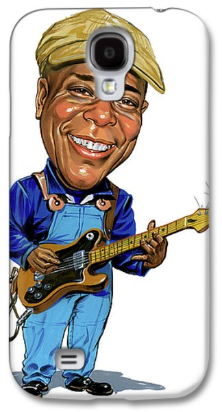 Paintings Galaxy S4 Cases - Buddy Guy Galaxy S4 Case by Art
